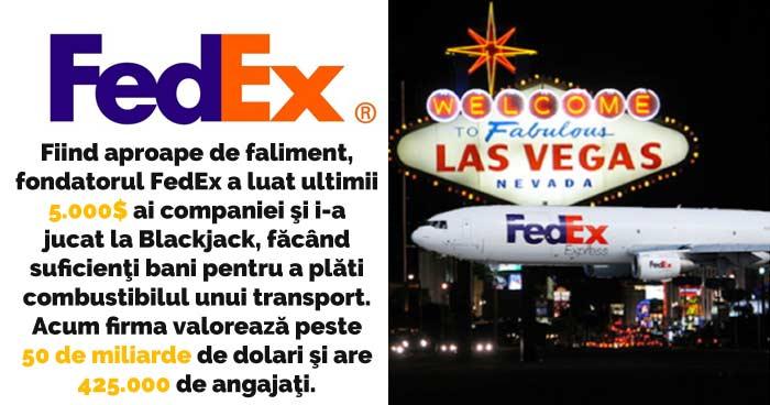 FedEx a fost salvată de la faliment cu bani câştigaţi la jocuri de noroc