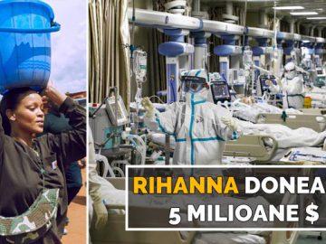 rihanna donează 5 milioane